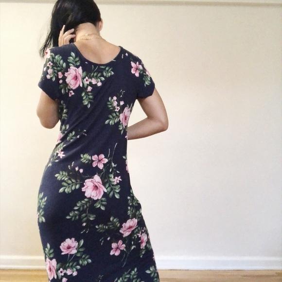 1a60ef01e8a Vintage 90s floral midi dress. M 5b7bef7c800dee934c4424a2